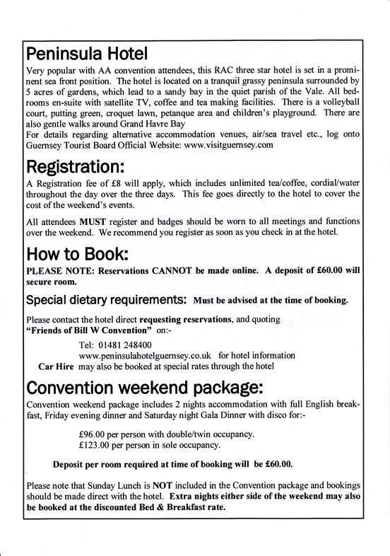 Convention brochure